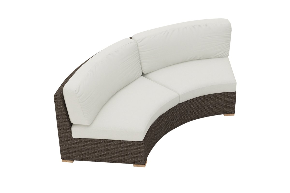 Harmonia Living Arden Curved Loveseat Cushion - Canvas Natural
