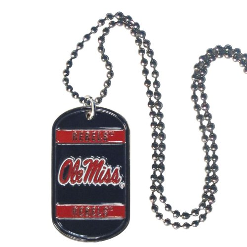 NCAA Mississippi Old Miss Rebels Tag Necklace