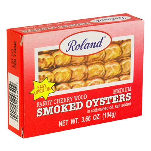 Buy Roland Smoked Oysters, 3.66-Ounce Tins (Pack of 10)