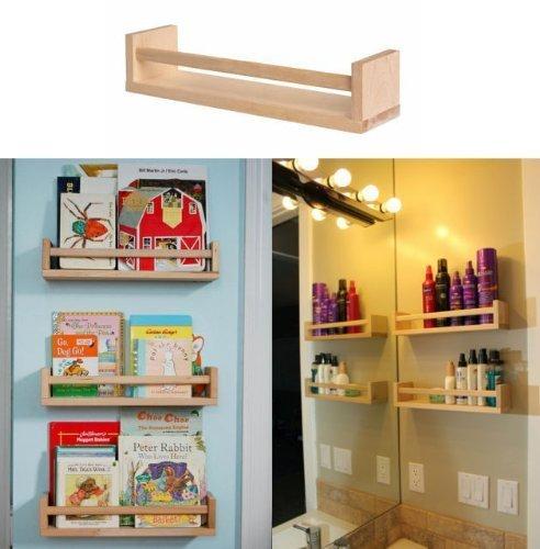 Ikea Wooden Spice Racks: Ikea 10 Wooden Spice Rack Nursery Book Holder Kids Shelf