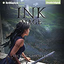 Ink Mage: A Fire Beneath the Skin, Book 1 (       UNABRIDGED) by Victor Gischler Narrated by Fiona Hardingham