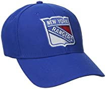 NHL New York Rangers Basics Structured Adjustable Cap, One Size, Blue
