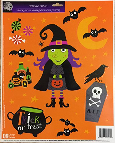 Halloween Window Clings Party Accessory 3 styles Witches Bats Pumpkins Ghosts Spiders