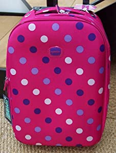 Pink Polka Dot Smallest Travel Luggage Suitcase Carry On Hand Cabin On Wheels Cabin Approved Trolly Light Weight