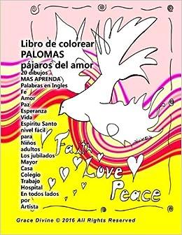 Amazon.com: Libro de colorear palomas pájaros del amor 20