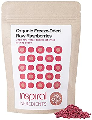 inSpiral Organic Raw Freeze-Dried Rasperries 20 g