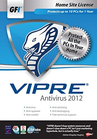GFI Software VIPRE AV 2012 - Home Site License 1 Year