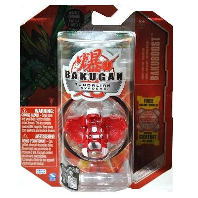 Bakugan Gundalian Invaders Crimson & Pearl EXCLUSIVE LIMITED EDITION (Red) Ventus HAWKTOR 850G w/DNA CODE (FACTORY SEALED)
