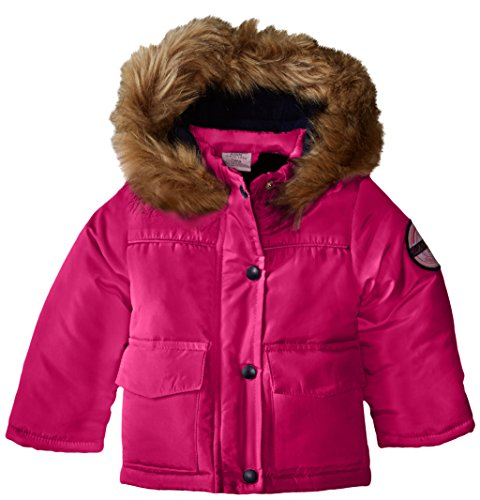 US Polo Association Baby-Girls Pongee Polyfill Jacket