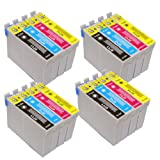 T0715 - 4 sets of 4 COMPATIBLE Ink Cartridges for Epson Stylus D120, D78, D92, DX400, DX4000, DX4050, DX4400, DX4450, DX5000, DX5050, DX6000, DX6050, DX7000, DX7400, DX7450, DX8400, DX8450, DX9400F, S20, S21, SX100, SX105, SX110, SX115, SX200, SX205, SX2