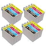 4 x T715 Multipack FOR EPSON SX205 - 16 X PRINTER Ink Cartridges ALSO COMPATIBLE FOR Epson D120, D78, D92, DX400, DX4000, DX4050, DX4400, DX4450, DX5000, DX5050, DX6000, DX6050, DX7000, DX7400, DX7450, DX8400, DX8450, DX9400F, S20, S21, SX100, SX105, SX1