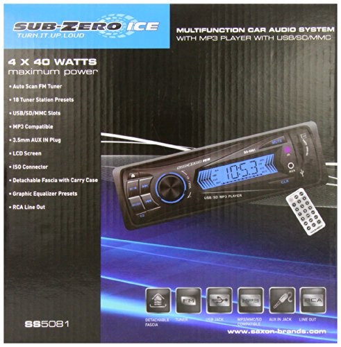 Sub Zero Ice Autoradio voreingestellt (USB, SD, MMC, MP3)