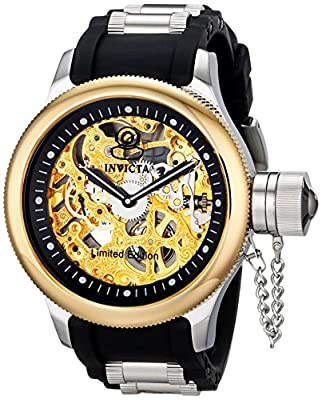 "Invicta 'Limited Edition' Men's ILE1088ASYB ""Russian Diver"" Stainless Steel Mechanical Dive Watch"