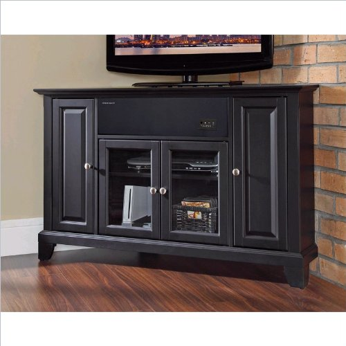 Crosley Furniture Newport 48-Inch Corner Aroundsound Tv Stand, Black
