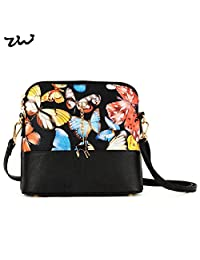 ZIWI Brand Shell Women Bag Animal Butterfly Print Lady Handbag PU Leather Fashion Bags ZWTB229