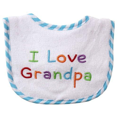 Luvable Friends I Love - Embroidered Drooler Bib, Green-Grandpa