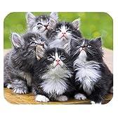 ユニークなデザイン カスタマイズ 可愛い子猫ちゃん,cute cat, kittens pattern マウスパッド ,Personalized mouse pad