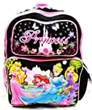 Disney Princess Backpack | 16 in School Bag - Black| @ Sunset Jungle