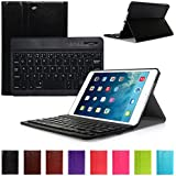 CoastaCloud Ultrathin (QWERTY) Universal Removable Bluetooth 3.0 Keyboard Combine Black Folio PU Leather Smart Cover Case For iPad Mini 1 / iPad Mini 2 with Retina Display