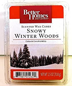 Better homes and gardens scented wax cubes snowy winter woods tarts candle melts for Better homes and gardens wax melts