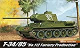 1/35 T-34/85 No.112 Factory Production Academy Hobby models Kits #13290 by ACADEMY