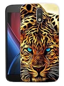 "Leopard FacePrinted Designer Mobile Back Cover For ""Motorola Moto G4 PLUS"" (3D, Matte, Premium Quality Snap On Case)"