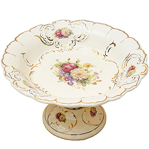 The Golden Apple Society High Class Italian Cut Clear Glass Serving Plate/salad/food Bowl,Limited Edition Serveware (Glass Fruit Display compare prices)