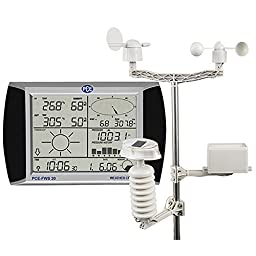 PCE Instruments Weather Station PCE-FWS 20 with touch screen has 5 sensors and a mast