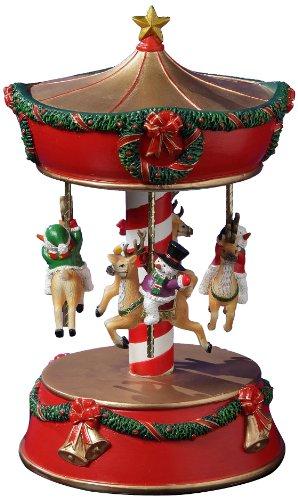 San Francisco Music Box Factory Xmas Snowmen and Reindeer Carousel