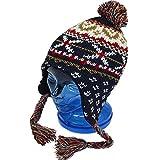 子供用 ニットキャップ キッズ ジュニア 男の子 女の子 スキー用 ニット帽子 fo-ncap1000aネイビー