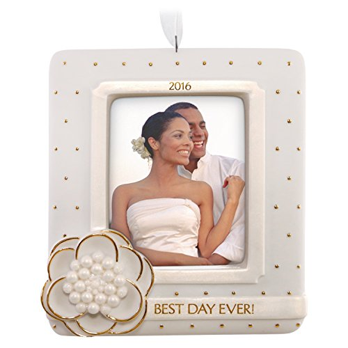 Wedding Day Christmas Ornament Dated 2016 Hallmark Keepsake Ornament