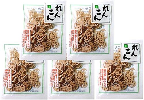こだわり乾燥野菜 山口県産 れんこん 25g×5袋