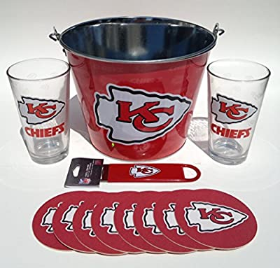 Kansas City Chiefs Bucket and Pint Glass Gift Set