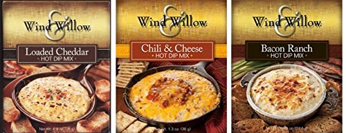 Wind & Willow Hot Dip Mix Variety Pack - Bacon Ranch, Chili & Cheese, Loaded Cheddar (Super Hot Cheese Dip compare prices)