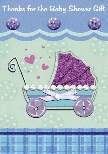 Baby Shower Gift (Buggy) Thank You Cards 48 Pack