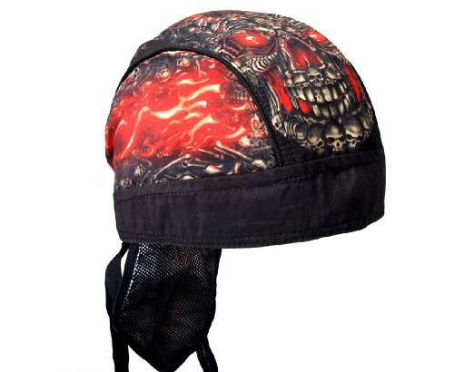 Hot Leathers SKULL MADE OF SKULLS Biker Head Wrap