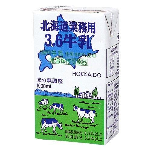 森永 (常温保存) 北海道業務用3.6牛乳 (1Lx12)
