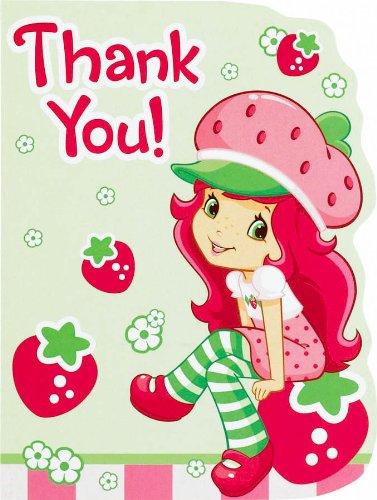 Imagen de Amscan 162314 Strawberry Shortcake notas de agradecimiento