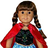 HIGH QUALITY FROZEN Inspired ANNA ELSA - 2 PC Costume Princess Dress - Fits American Girl 18