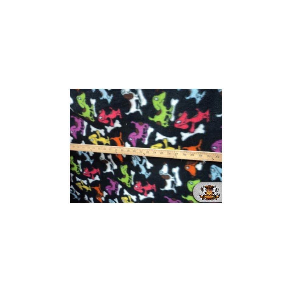Fleece Fabric Printed Animal *DOG BONE* Fabric By the Yard