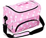 Kenley Professional Hairdressing Hair Equipment Tool Carry Case Bag - Polka Dot Pink