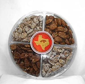 Texas Candied Pecan 4 Flavor Sampler Nut Gift Pack