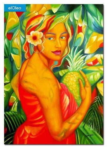 elOleo – Diva of Nature 110×80 Gemälde auf Leinwand handgemalt 83511A günstig bestellen