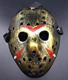 Gmasking Friday The 13th Horror Hockey Jason Vs. Freddy Mask Halloween Costume Prop (Bronze)