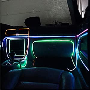 aumo mate 3m 12v led flexible neon el wire lumi re el tube de c ble m tallique. Black Bedroom Furniture Sets. Home Design Ideas
