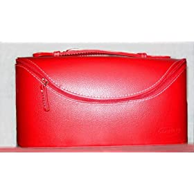 *CLARINS PARIS Sturdy, FANCY & Classy LEATHER-LIKE COSMETIC / Vanity CASE* [LIMITED Edition].