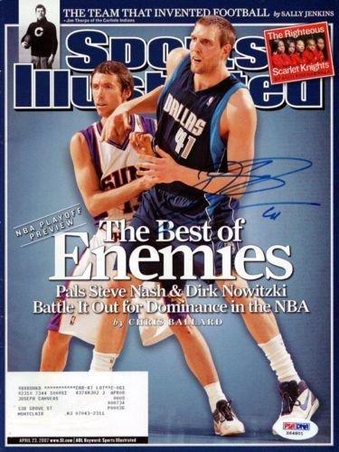 Dirk Nowitzki Autographed Signed Si Magazine Dallas Mavericks #X64801 - Psa/Dna Certified - Autographed Nba Magazines