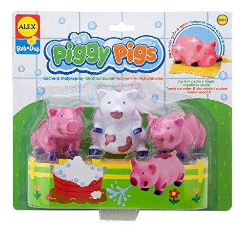 ALEX Toys Rub a Dub Rub a Dub Piggy Pigs in the Tub - 1