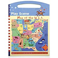 Mudpuppy Map of the USA Play Scene Sticker Set