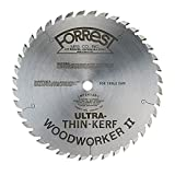 "Forrest WW10407080 Woodworker II Ultra Thin Kerf (.080"") 10"" X 40Tooth, 5/8"" arbor"